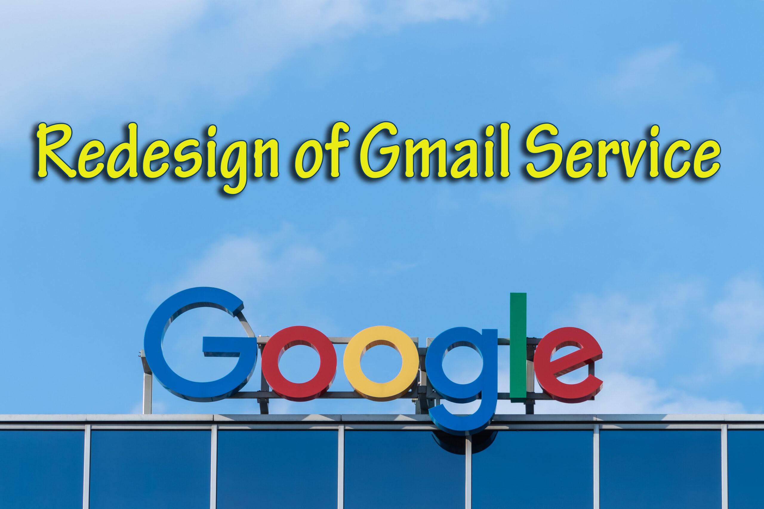 Google Anounces Gmail Redesign Service