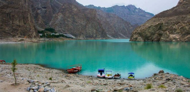 most beautiful places in pakistan Attabad Lake