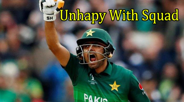 Captain Babar Azam unhappy with World Cup T20 squad